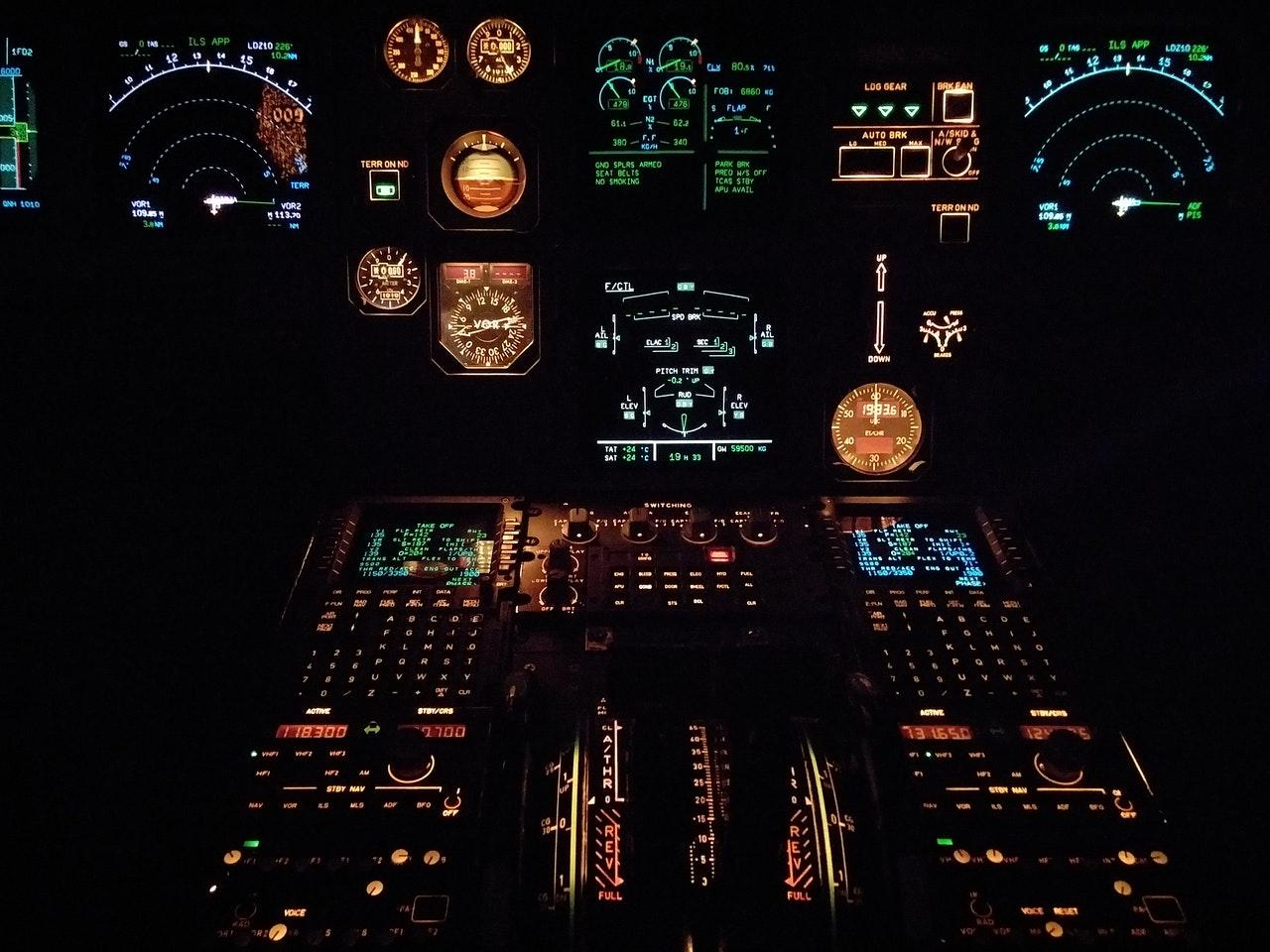 black-multicolored-control-panel-lot-726233